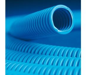 ДКС Труба ППЛ гибкая гофр. д.32мм, тяжёлая с протяжкой, 25м, цвет синий