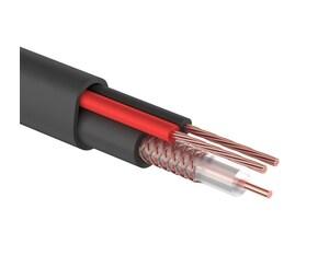 SyncWire КВК(RG 59+2x0,75) плоский черный кабель