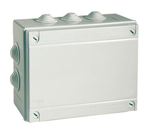 ДКС Коробка ответвит. с кабельными вводами, IP55, 120х80х50мм