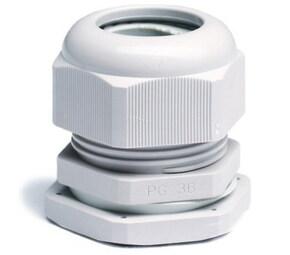 ДКС Зажим кабельный с контргайкой, IP68, PG42, д.28-38мм